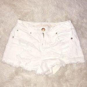 White High-Waisted Shorts ☆ American Eagle